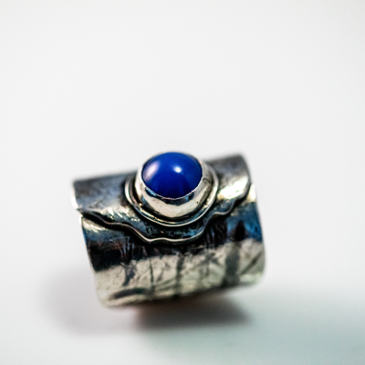 Blue Chalcedony Folded Ring